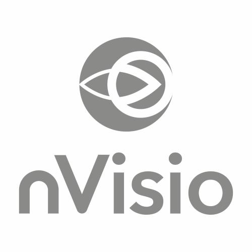 Logo Lesebrillen nVisio von Trisa Accessoires, grau auf weissem Hintergrund