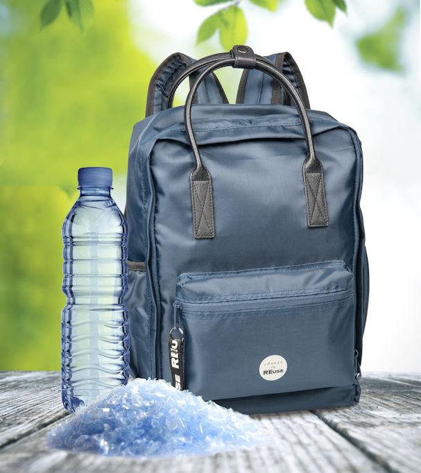 RE-use Unisex Rucksack aus Recycling-PET von Trisa Accessoires, we care for our future.