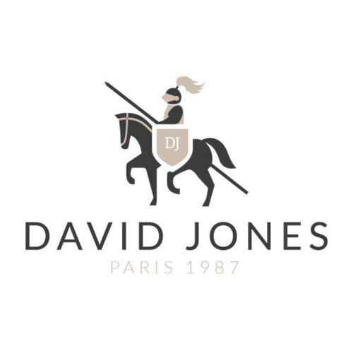 Logo David Jones auf weissem Hintegrund